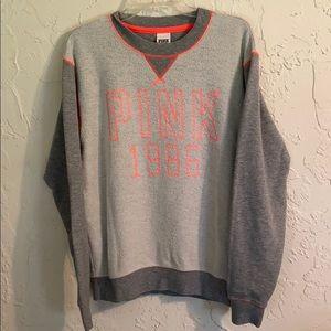Pink Victoria's Secret women's gray sweatshirt S